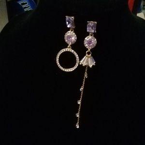 Purple jewel earrings